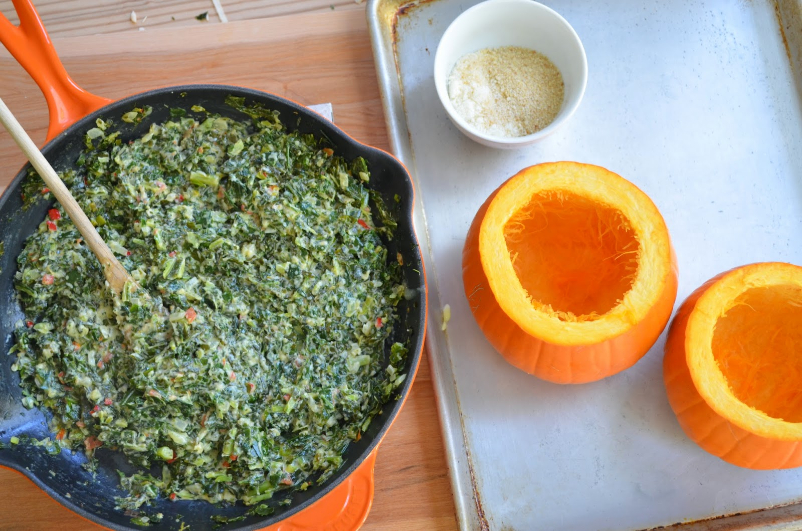 Pumpkin and Collard Greens - Smell of Rosemary.