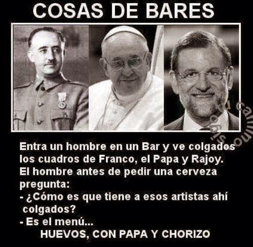 Franco el papa y Rajoy