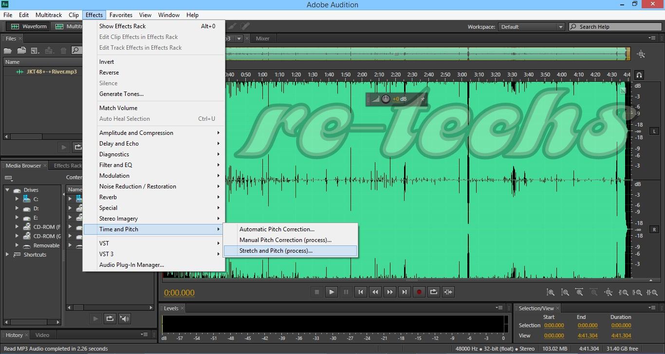 Mengubah Suara Cewek Jadi Suara Cowok Dengan Adobe Audition