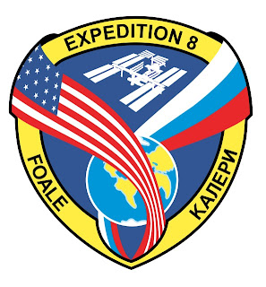 ISS Expedition 8 Crew Patch Insignia Mike Foale and Alexander Kaleri