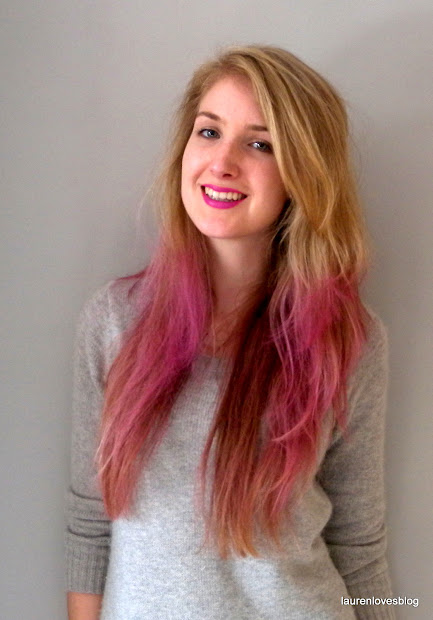 matching hair and lips - dip dyed