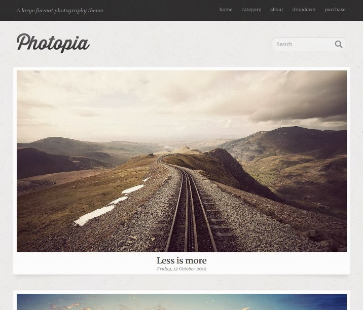 Photopia - Minimalist Photography WordPress Theme