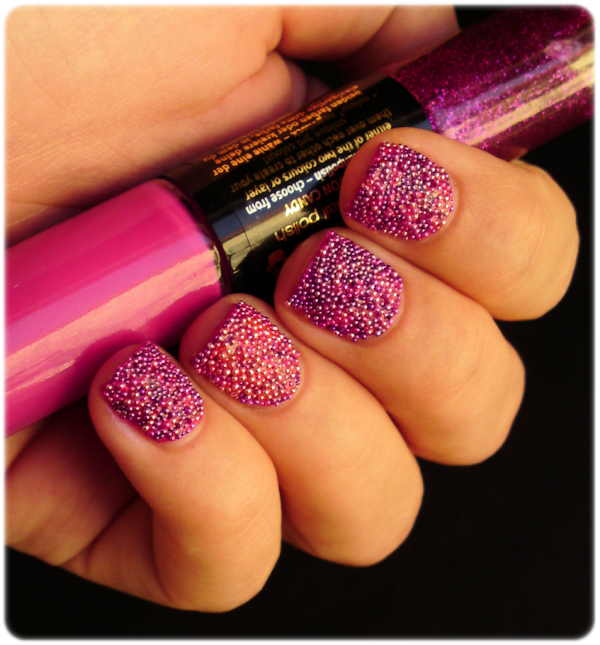 Caviar Nail Polish: Born Pretty Store Blog: Pink Caviar Manicure Review By Ivana