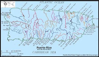 Mapa de Rios de Puerto Rico