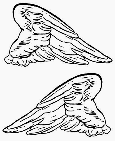 Angels wings clip art 051515 vector clip art free clip for Angel wings coloring pages
