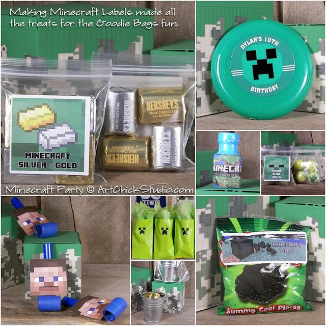 Minecraft Party Goodie Bag Treats