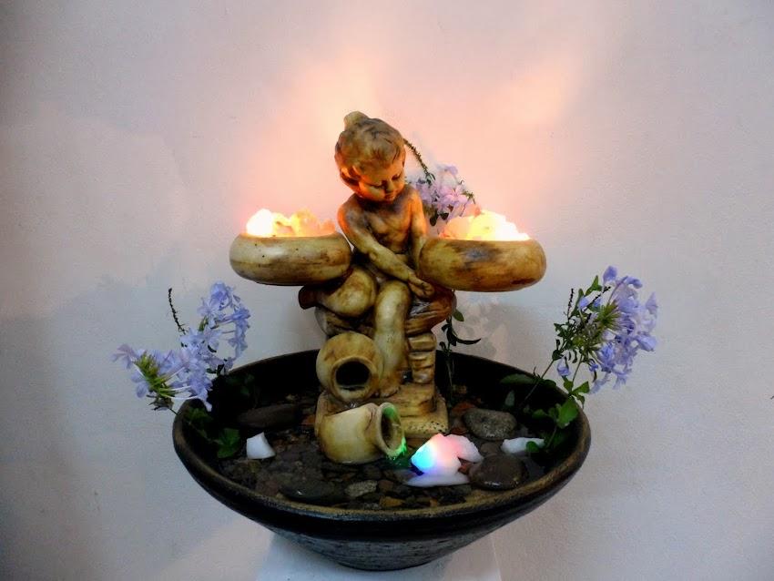 Fuente de Agua Feng Shui con Luz + Lámpara de Sal del Himalaya *EXCLUSIVIDAD ARTENORA*