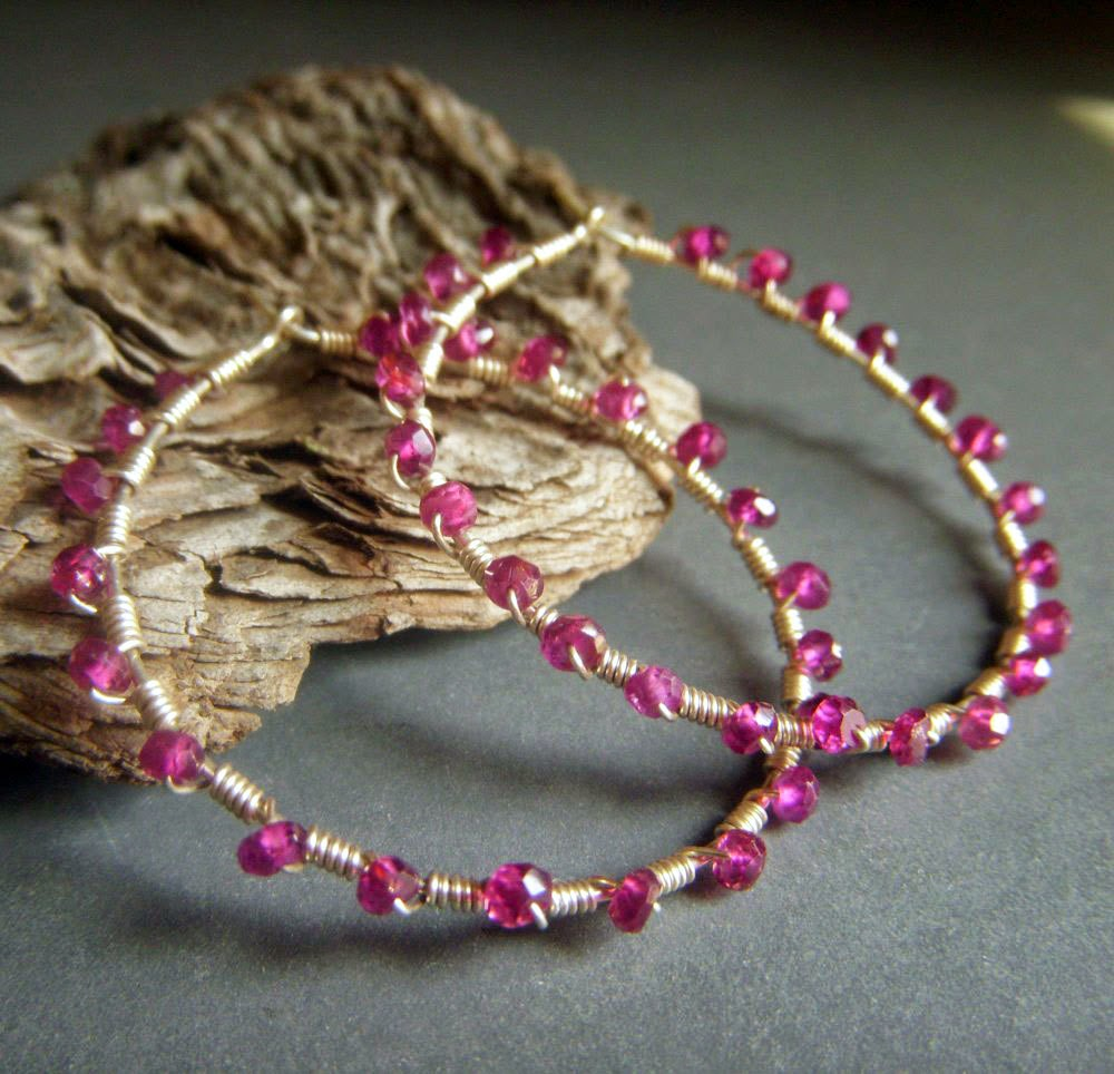https://www.etsy.com/listing/192046855/garnet-hoop-earrings-sterling-silver