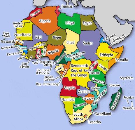 Worksheet. B l a c k b u l b L i s t MAP OF AFRICA