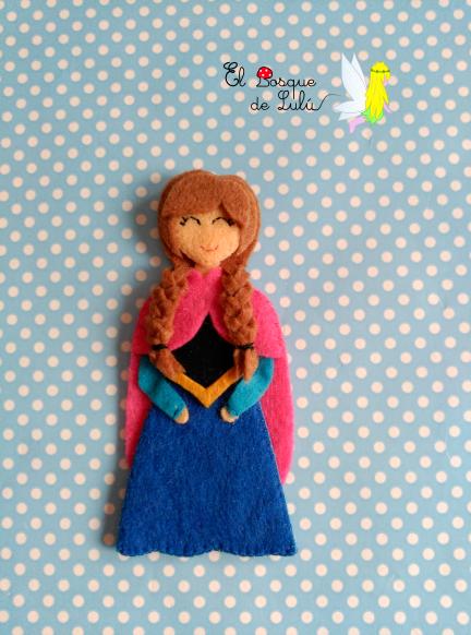 muñeca-de-fieltro-Frozen-Anna-diadema-tocado-broche-Disney-regalo-niña