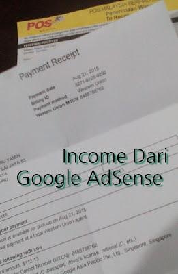 Terima Bayaran Iklan AdSense Dari Google
