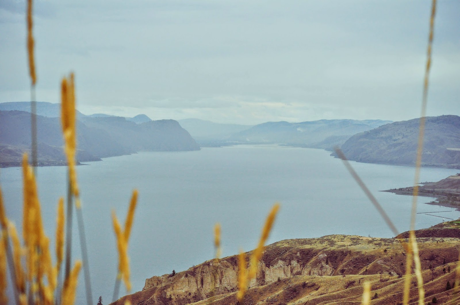 Kamloops lake in British Columbia, Canada.