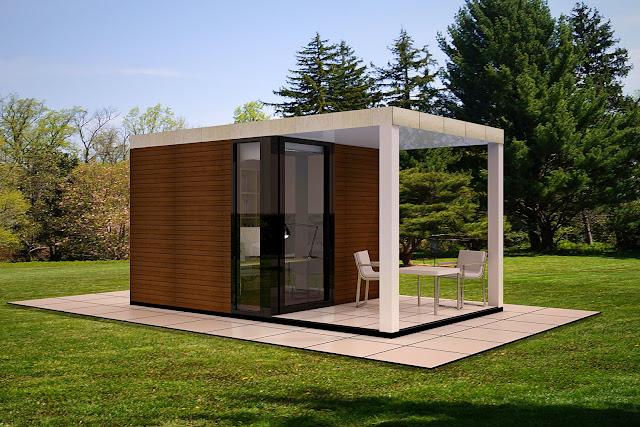 Despacho 9 con porche - Resan Modular - Exterior