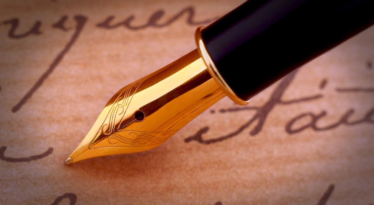 plume et signature