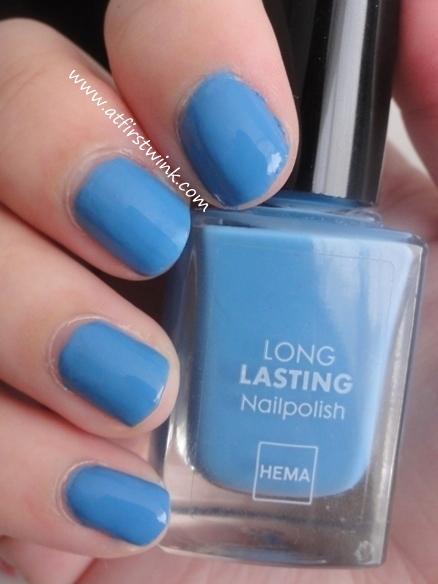 HEMA Long Lasting nail polish number 834 - Han Blue