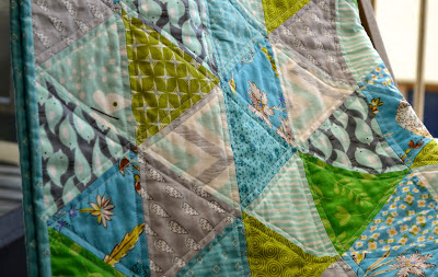 sixty degree triangle baby quilt