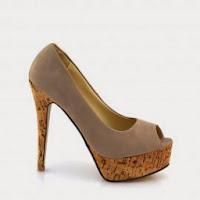 Pantofi dama khaki piele eco