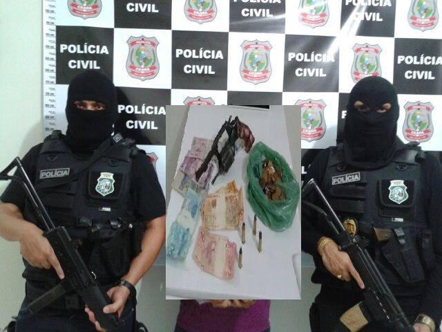 POLÍCIA CIVIL DE LIMOEIRO DO NORTE PRENDE INDIVÍDUO SUSPEITO DE DIVERSOS ASSALTOS.