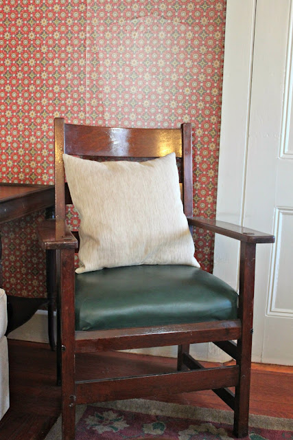 Papered House_Family Room_Stickley Mission Chair