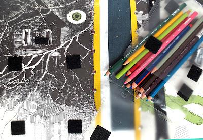 Removable pencil case