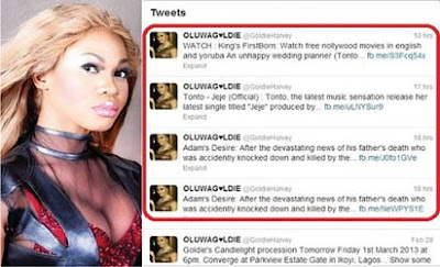 Late Goldie's Twitter Account Hacked? Let The Dead Rest
