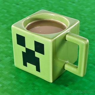 Caneca Creeper com Café e Leite Minecraft Java Logo