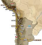 Mapa  Rally Dakar Argentina - Chile 2012