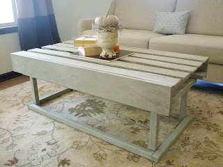 Relcaimed Pallet Coffee Table - www.adorbymelissa.com