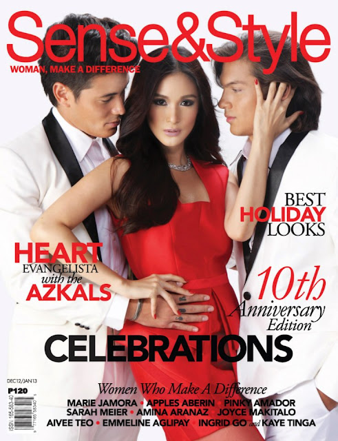 Heart Evangelista and Azkals Cover Sense and Style Dec 2012-Jan 2013 Issue
