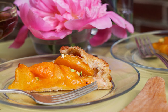 Apricot Galette Slice, Side View