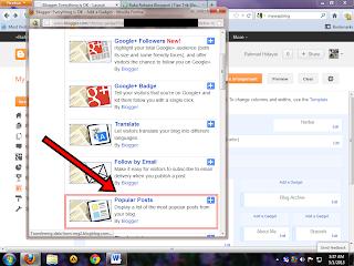 Cara Menambahkan Widget Popular Post di blogspot