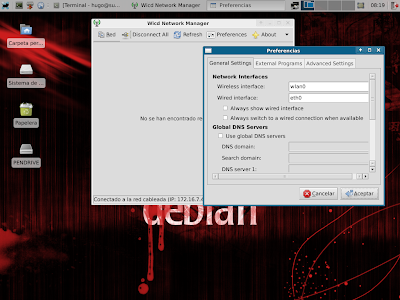 interfaz de red en linux