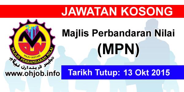 Jawatan Kerja Kosong Majlis Perbandaran Nilai (MPN) logo www.ohjob.info oktober 2015