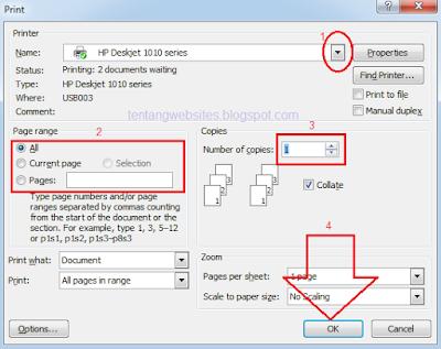 Cara print dengan kertas A4
