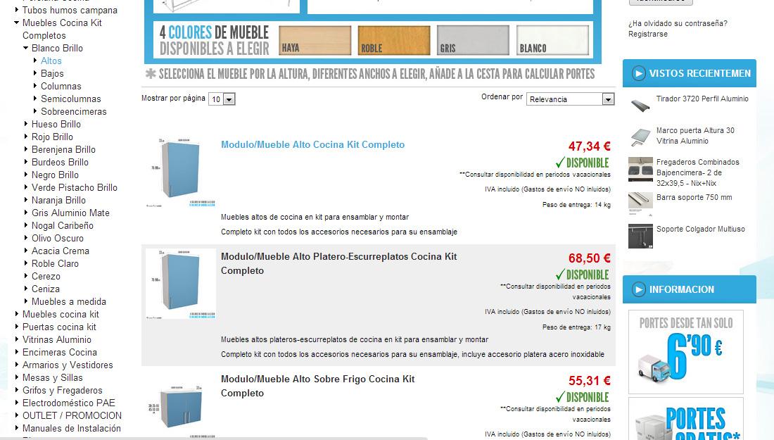 Awesome Cocina Online Muebles Gallery - Casa & Diseño Ideas ...