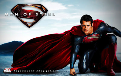 Man of Steel Leaked Promo Image Wallpaper Henry Cavill Superman Zod Faora Movie Masters Toy Fair 2013 Play Arts Kai Figure Star Wars Black