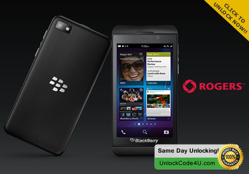 Factory Unlock Code for BlackBerry Z10 from Rogers Canada