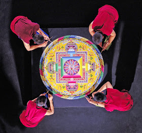 monks creating a mandala