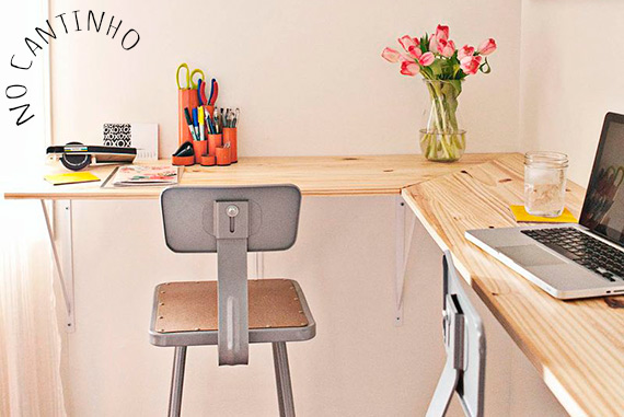 Escrit rio vai claudia sentar no cantinho blog de decora o e tutorial diy - Mesas de escritorio baratas ...
