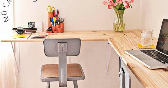 Escrit rio vai claudia sentar no cantinho dcoracao for Mesa escritorio barata