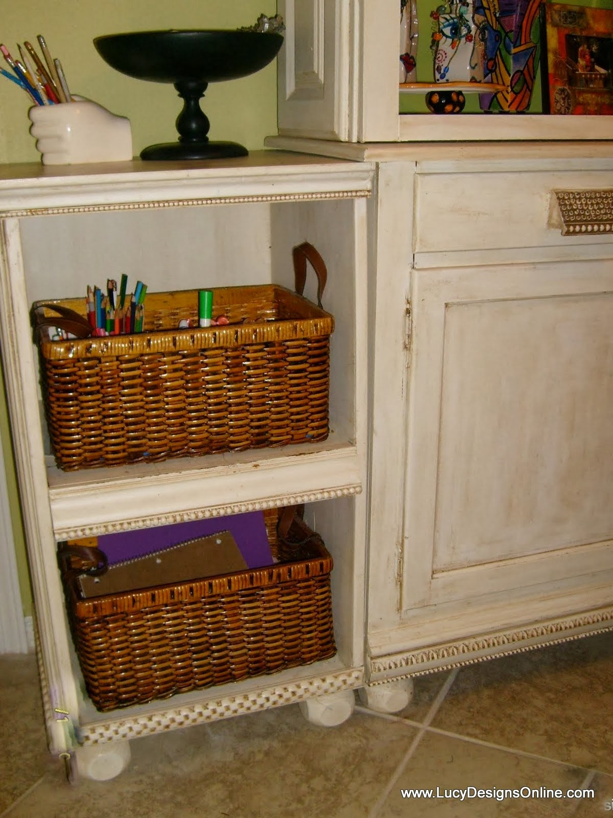 repurposed hutch cabinet