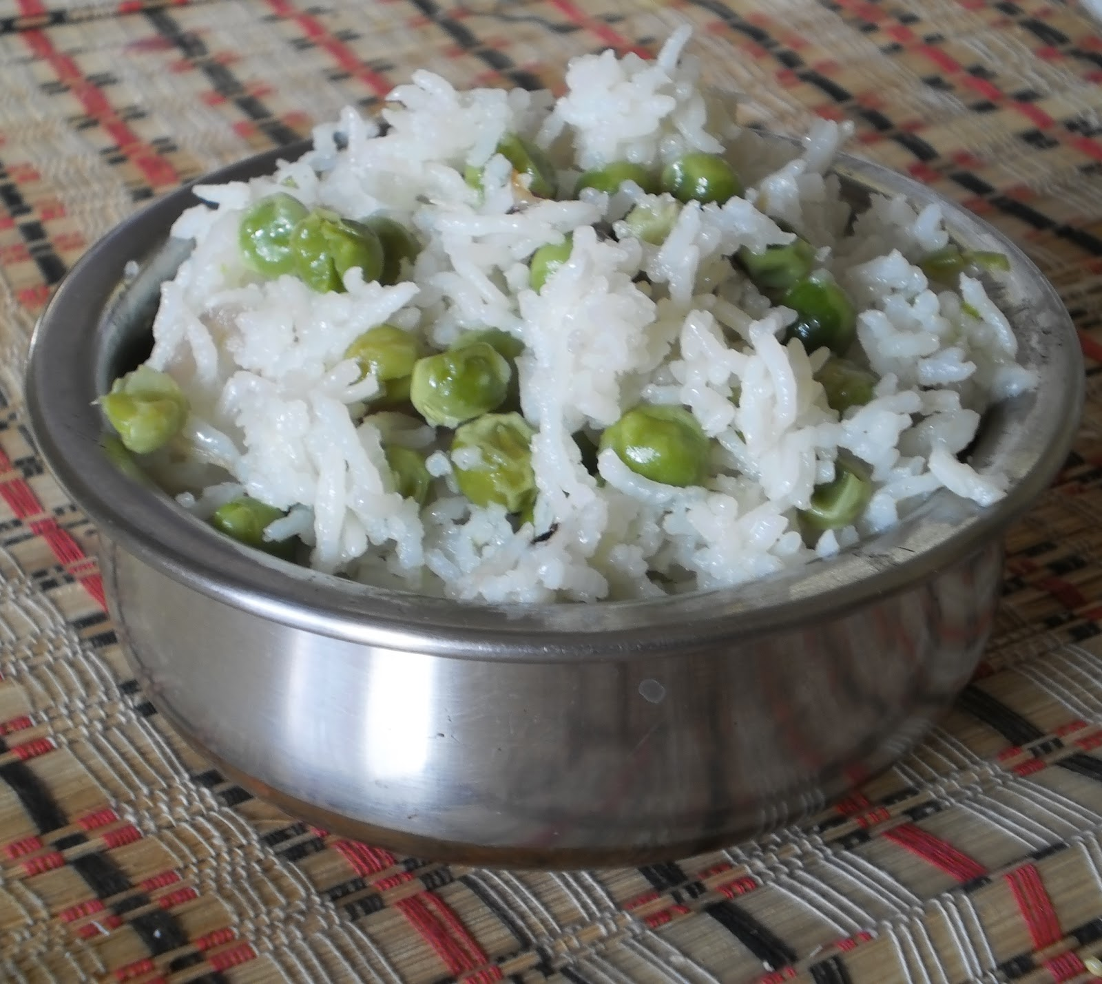 Peas Pulao/Indian Rice Pilaf Recipe(Basmati rice cooked ...