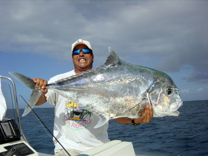 Big fishes of the world pompano african alectis ciliaris for Picture of pompano fish