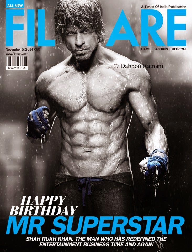 Shah Rukh Khan's six pack photo shoot For Filmfare magazine