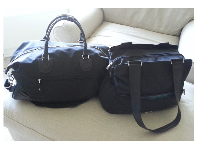 Tumi Riggs carry-on bag and Tumi diaper bag