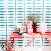 Diseños de verano en azul y rojoBlue and red summer patterns