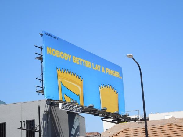Butterfinger Nobody better lay finger billboard