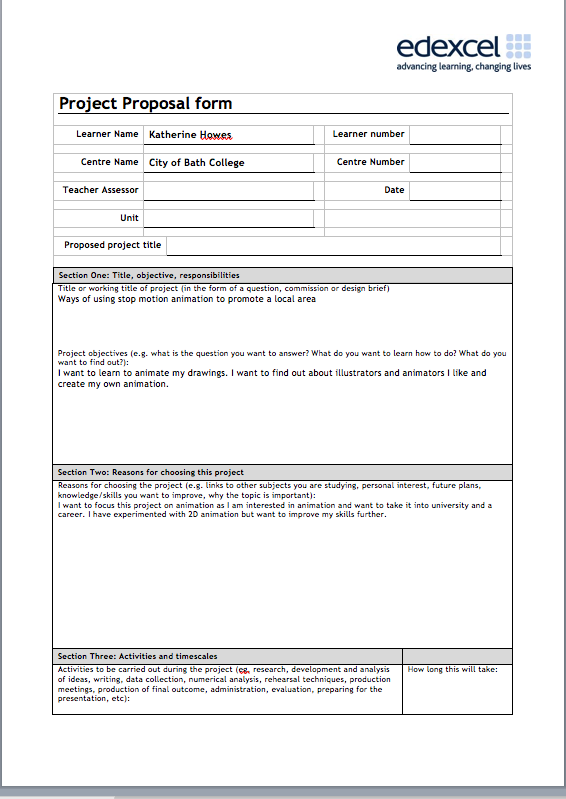 Artefact Extended Project Project Proposal Form