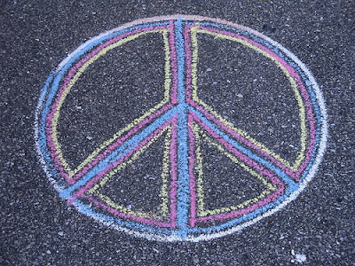 Peace Symbol in Chalk