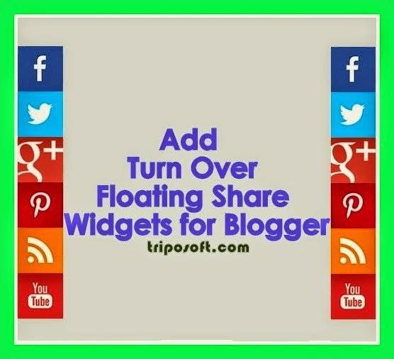 Add Turn Over Floating Sharing Widget on Blogger